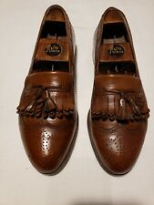 MENS Bally Shoes Men's 10.5 D Brown Tassel Loafers Leather Great Cond Very Soft
