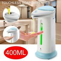 Bathroom Kitchen 400ml Automatic Touchless IR Sensor Soap Liquid Dispenser