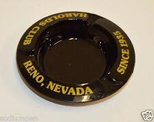Vintage Harolds Club Black Reno Since 1935 Nevada Casino Glass Cigarette Ashtray