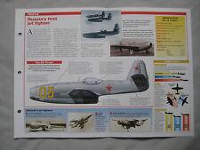 Aircraft of the World Card 168 , Group 4 - Yakovlev Yak-15, Yak-17 & Yak-23
