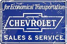 Chevrolet Sales & Service aluminium sign (41)