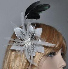 Tissu Cheveux Fleur Ressort Broche Blanc Fascinateur Corsage Accessoires