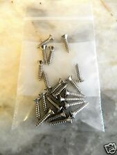 PACKAGE OF (20) #4 x 1/2 FENDER ® PICKGUARD SCREWS SMSA NICKEL PHILLIPS OVAL