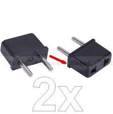 2x US USA America AU Australia to EU Europe Power Plug Adapter Travel Converter