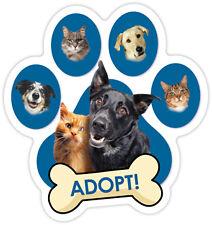ADOPT! DOG PAW Car Magnet  QUALITY