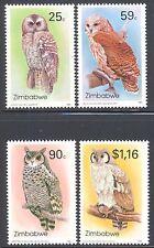 ZIMBABWE, 1993, OWLS, 2ND SERIES, SG 850-853, MNH SET