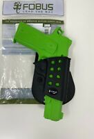 Fobus R1911 Rubberized Insert RH Evolution Paddle Holster For 1911 with Rails