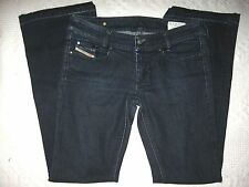"""DIESEL JEANS LOUVELY BOOT SZ 29 X 30"""" AA8 DARK WASH ITALY STRETCH EUC"""