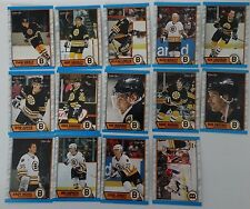 1989-90 O-Pee-Chee OPC Boston Bruins Team Set of 14 Hockey Cards