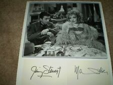Marlene Dietrich & Jimmy Stewart Autographed / Signed INDEX CARDS  Photograph -
