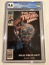 CGC 9.6 🔥 NEW MUTANTS ANNUAL #1 WHITE PAGES 1ST APPEARANCE LILA CHENEY