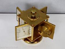 IMHOF TISCHUHR WÜRFEL WETTERSTATION 4 ANZEIGEN BAROMETER cube mantle clock 1950