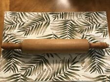 """Vintage Wood Rolling Pin With Handles 17"""""""