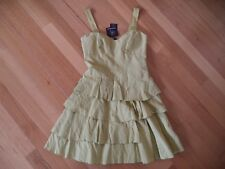 CUE LIME RUFFLE DRESS SIZE 6 BRAND NEW WITH TAGS $279