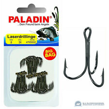 Paladin Big Bag Laserdrillinge Gunsmoke 24 Stk. Gr. 6 Angel-haken Drilling