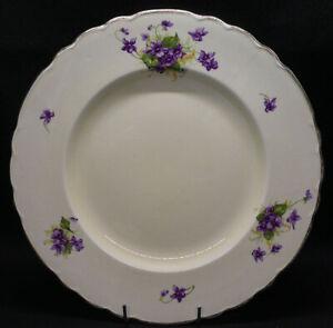 Vintage A.J. Wilkinson Ltd Royal Staffordshire Honeyglaze Violets Dinner Plate