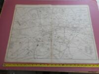 100% ORIGINAL LARGE LANDMARKS OF LONDON MAP BY CASSELL C1863 RAILWAYS