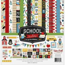 """Echo Park 12"""" X 12"""" Paper Collection Kit School Rules New"""
