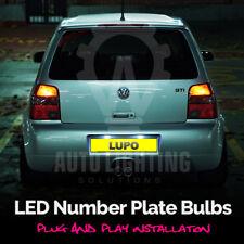 VW Lupo 1998-2005 Xenon White LED Number Plate Light Bulbs Canbus Error Free
