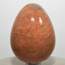 "2.3"" Natural Orage / Peach Moonstone Egg Polished Feldspar Crystal Mineral India"