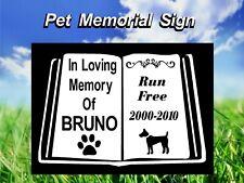 PERSONALISED PET DOG MEMORIAL ACRYLIC SIGN GRAVE SIGN PET MEMORIAL PLAQUE