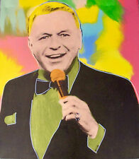 "STEVE KAUFMAN ""FRANK SINATRA"" Hand Signed Silkscreen on Canvas - Ready to Hang"