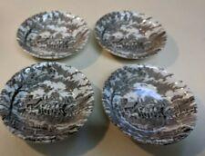 Set Of 4 Vintage Myott Royal Mail Fruit/Dessert (Sauce) Bowl  Brown & White