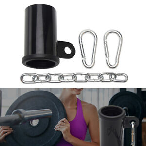 """Metal T Bar Row Platform Eyelet Attachment for 2"""" Olympic Bar with Chain"""