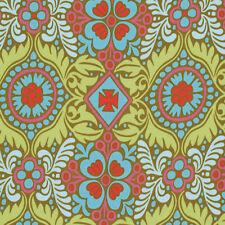 Amy Butler Belle Kashmir Fabric in Okra PWAB114 100% Cotton
