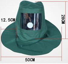 Sand Mask Blasting Equipment Sandblaster Hood Cap Anti Wind Dust Protection