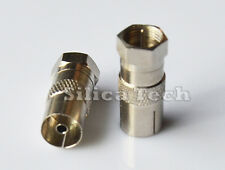 F Male to PAL DVB-T TV IEC Female Coaxial RF Connector Adapter