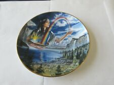 """Rainbow Maiden , Vintage Collector's Plate , #HB 6307 , Franklin Mint , 8"""""""