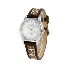 Coach Signature Logo Women's Brown Leather Monogram Watch 14502332 NEW