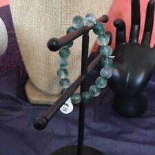 Natural Polished Jadeite Jade Stretch Bracelet 7 Inches