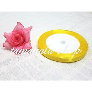 """22m Length,1/4""""-2"""" Width,Coloured Satin Ribbon Pro Quality Sided Roll Party"""