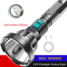 90000LM LED Flashlight Tactical Light Super Bright Torch USB Rechargeable Light