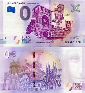 131 Veronafil Verona Italy 0 Euro Souvenir Note 2018 Series 2