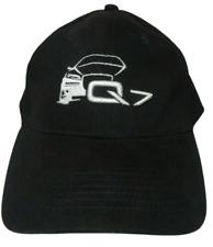 Genuine AUDI Q7 Official StrapBack Hat Baseball Cap Logo Buckle Black/Silver