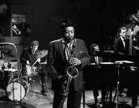OLD MUSIC PHOTO American Jazz Saxophonist Ben Webster Performing
