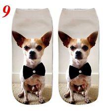 3d Unicorn Print Men Women Casual Low Cut Socks Cotton Animals Pattern Socks 9 Dog