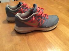 NIKE 685167 Blue & Neon Pink Running Sneakers SHOES Swoosh Kids size 3.5 Y