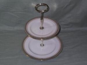 """Paragon """"Kensington"""" Bone China 2-Tier Hostess Cake Plate Stand"""