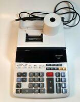 Sharp EL-1197PIII 12 Digit 2 Color Commercial Printing Calculator FREE Roll