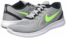 sale retailer cf115 1e548 New listing NIKE FREE RN RUNNING SHOES GREY   ELECTRIC GREEN SIZE 14  (831508-