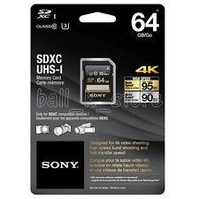 Genuine Sony 64GB High Speed SD SDXC Memory Card 95MB/s Class10 U3 (SF-64UZ)