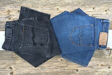 Nudie Slim Jim & Diesel Viker 32x29 black & blue denim made in Italy authentic