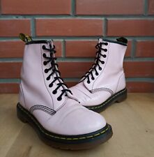Dr Martens 1460 Women 6 UK 8 U Ankle Boots Patent Leather Pale Pink Pastel 8 eye