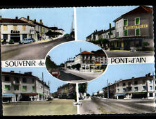 PONT-D'AIN (01) COMMERCES , HOTEL DES ALLIES & RENAULT 4CV au GARAGE ESSO en1961