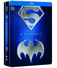 Batman + Superman Tin Box Metallbox Steelbook - 9 Blu-ray -Deutscher Ton NEU OVP