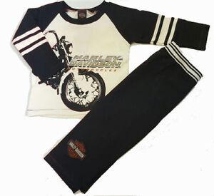 Harley-Davidson Motorcycles Toddler Boy Fleece Outfit - Shirt & Pants